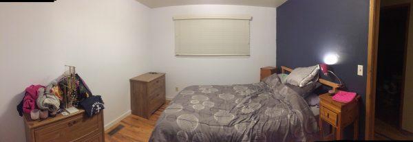 Burien House repainted master bedroom