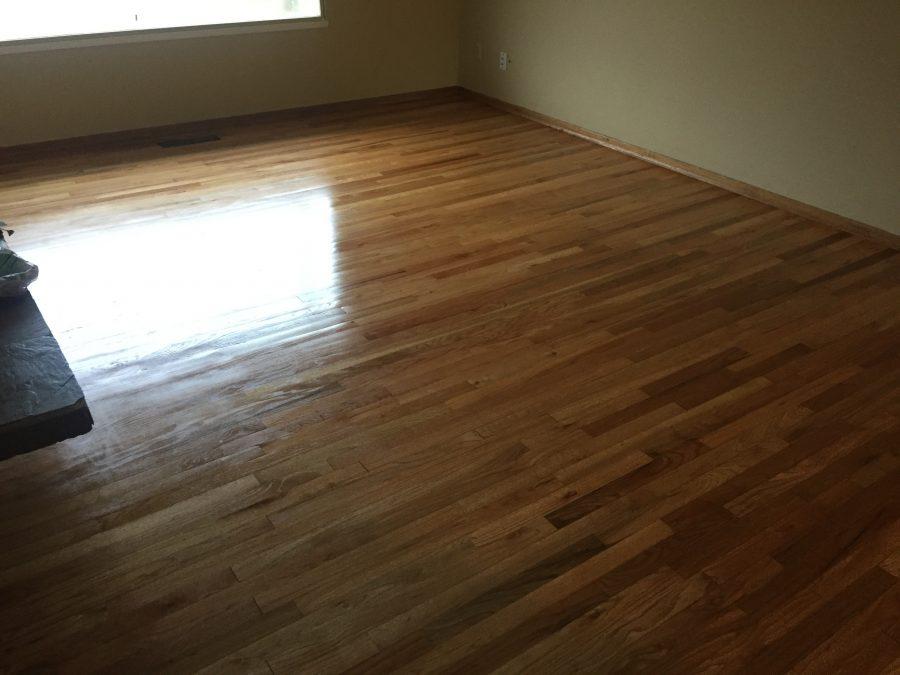 Finished living room floor