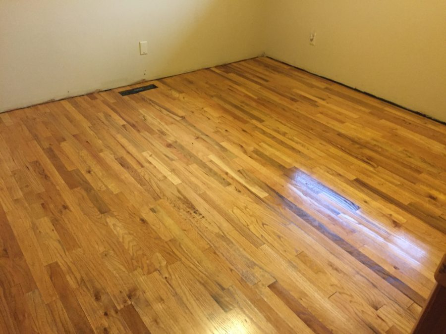 Finished back bedroom floor
